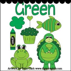 Green 1 Early Learning Clip Art