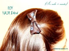 Fundita draguta pe care o poti face chiar tu Diy Hair Bows, Diy Hairstyles, Crafting, Ear, Projects, Accessories, Log Projects, Blue Prints, Do Crafts