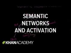 Semantic networks and spreading activation | Processing the Environment | MCAT | Khan Academy - YouTube