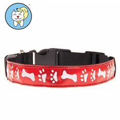 Visky ® Safety USB Rechargeable Reflective Dog Collar--Red--M >>> Find out more details by clicking the image : Cat Collar, Harness and Leash