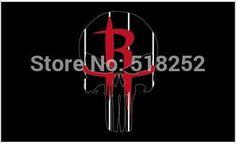 Houston Rockets Skull Flag Flag 3x5