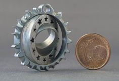 nano 3D printed parts made with micro laser sintering technology by 3D microprint #3dPrinteresting #3dPrinting