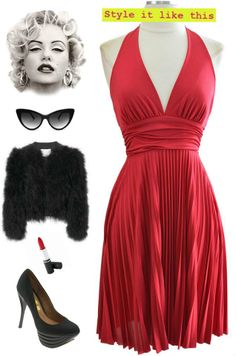 "only $30! - Brand new in stock at Le Bomb Shop and super affordable.. Our Marilyn Monroe ""7 Year Itch"" inspired halter dress. $30 Plus FREE U.S. Shipping.. three colorways to choose from: red, black & white. Find it at Le Bomb Shop here: http://le-bomb-shop-2.myshopify.com/search?type=product&q=%22marilyn+inspired+pleated+halter+dress%22&search-button.x=0&search-button.y=0"