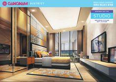 Apartemen Gangnam District Bekasi tipe Studio. #gangnambekasi Gangnam District, Flat Screen, Divider, Studio, Room, Furniture, Home Decor, Blood Plasma, Bedroom