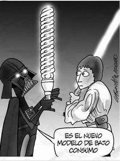 Darth Vader, preocupándose por el futuro del planeta desde los años 70.