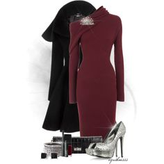"""Red Red Wine"" by cynthia335 on Polyvore not sure about that color shoes."