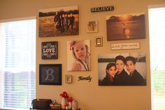 Family room wall Pintrest Inspired.