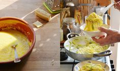 and egg linguine recipe linguine with courgettes yellow squash egg ...