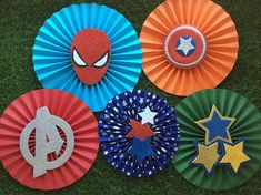 Hulk Birthday, Avengers Birthday, Superhero Birthday Party, 4th Birthday Parties, Birthday Decorations At Home, Spiderman Theme, Superman Party, Wonder Woman Party, Folded Book Art