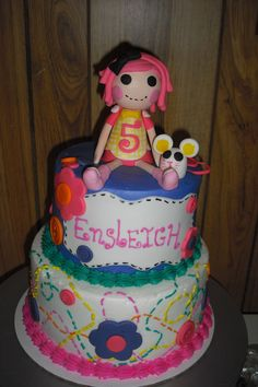 Lalaloopsy Cake Love this with a big 4 on top!