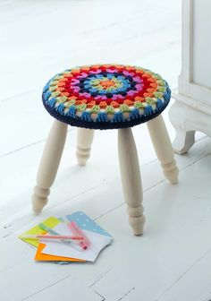 Round+Stool+Cover+#howto+#tutorial