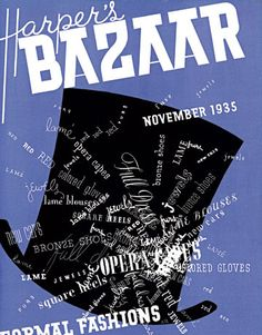 1935: A cover displaying Brodovitch's Russian roots