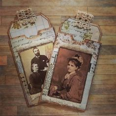 Pockets & Tags ❤ #journallingephemera #vintagestyle #journalpockets #collage #vintageimages #journaltags #craftingeek #papercraft…