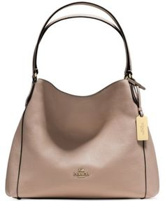 COACH EDIE SHOULDER BAG 31 IN REFINED PEBBLE LEATHER | macys.com