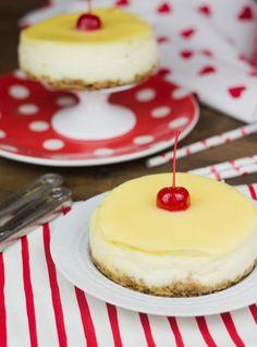 Mini-Cheesecakes de limón para San Valentín