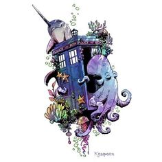 Tardis underwater, Narwhal and friends...