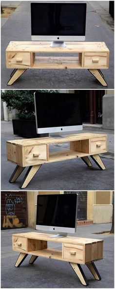 wood pallet made tv stand