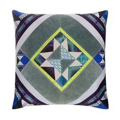 Butterfly Home by Matthew Williamson Multi-coloured diamond print cushion   Debenhams