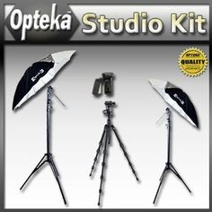 Portrait Studio Starter's Kit by Opteka Package Includes 2 x Opteka 45-inch Lighting Umbrella Kits and Much More (Electronics)  http://www.rereq.com/prod.php?p=B004W40TG0  B004W40TG0