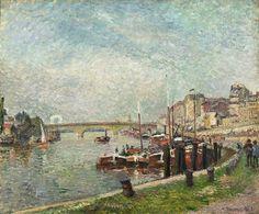 Camille Pissarro - Quai Napoléon, Rouen [1883]