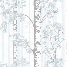 Vallila wallpaper: Luontopolku tapetti turkoosi