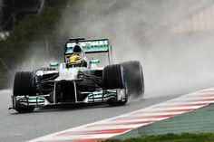 Lewis Hamilton, Mercedes, Circuit de Catalunya, 2013 - F1 Fanatic
