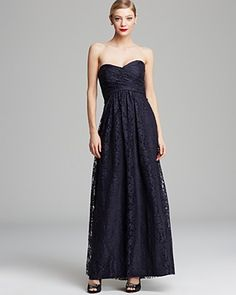Amsale Gown - Strapless Lace   Bloomingdale's