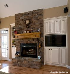 A fireplace and buil