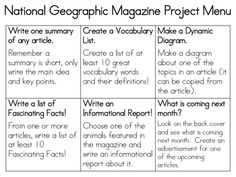 National Geographic magazines choice board. free download.
