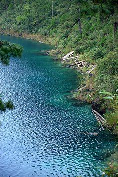 Cinco Lagos one of 59 lakes in Lagunas de Montebello National Park, Chiapas, Mexico | a UNESCO Biosphere