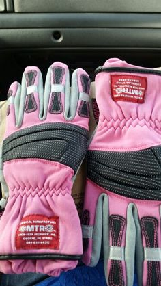 I'm a firefighter and a woman. Yes I have pink extrication gloves!!
