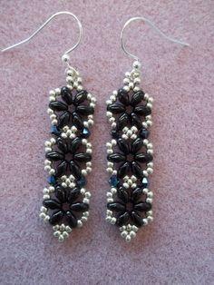 Hexagon Duo Earrings PDF Bead Weaving Tutorial (INSTANT DOWNLOAD)