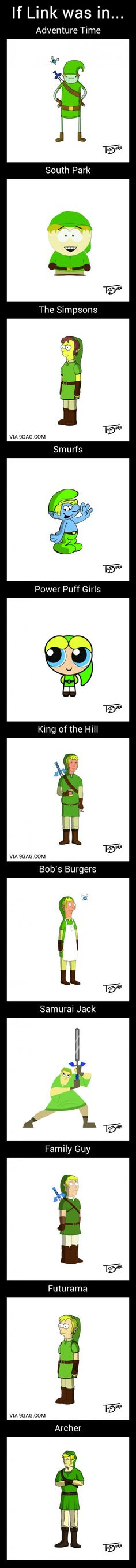 If Link Was In Other Cartoon Universes