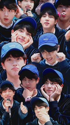 who needs a mirror when jin looks beautiful in all of this Bts Blackpink, Jimin, Bts Bangtan Boy, Foto Bts, Bts Photo, Seokjin, Jung Hoseok, K Pop, V And Jin
