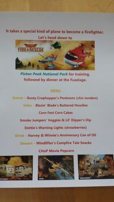 Disney Dinner Night #73 - Planes : Fire & Rescue