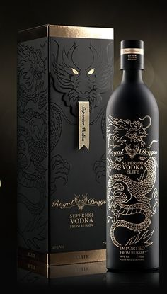 Packaging Graphic inspiration Royal dragon elite vodka: 25 original and innovative packaging to disc Innovative Packaging, Luxury Packaging, Brand Packaging, Alcohol Bottles, Liquor Bottles, Vodka, Malbec, Bottle Packaging, Juice Packaging