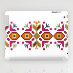 Bulgarian embroidery pattern iPad Case by VessDSign - $60.00