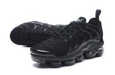 8766beef36a6 Nike Air Vapormax TN Plus 2018 All Black Men Shoes