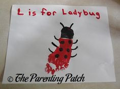 L Is for Ladybug Footprint Craft | Parenting Patch