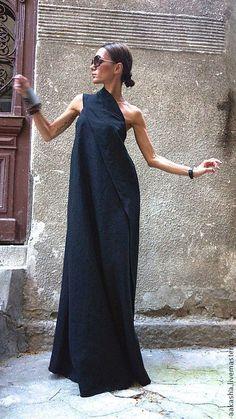 Сарафан Black Sand – купить или заказать в интернет-магазине на Ярмарке Мастеров | Шикарный летний сарафан из качественного льна.