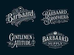 Barbaard label clothing sign classic identity retro handlettering branding vintage logotype hand let Vintage Logo Design, Vintage Fonts, Vintage Typography, Graphics Vintage, Vector Graphics, Typography Inspiration, Logo Design Inspiration, Lettering Design, Hand Lettering