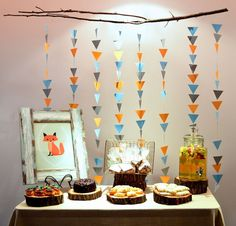 - Baby Shower To Do List . - Decorate Occasion Styling: Fox Themed Child Bathing … – Baby Shower To Do List - Baby Shower Tribal, Deco Baby Shower, Baby Shower Garland, Fiesta Baby Shower, Baby Boy Shower, Arrow Baby Shower, Baby Party, Baby Shower Parties, Baby Shower Themes