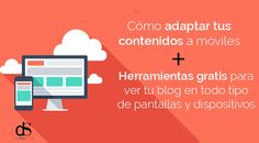 Herramientas online gratis ver tu web en dispositivos moviles telefonos y tablets Tablets, Mobile Marketing, Online Gratis, Blog, David, Google, Design Web, Social Networks, Tools