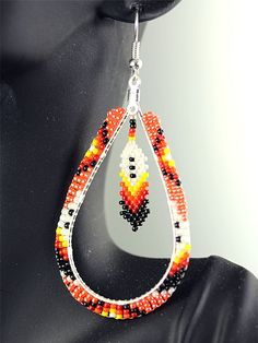native american beaded feather earrings - Google Search