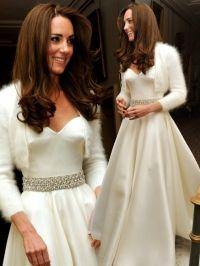 Kate middleton evening wedding dress cardigan