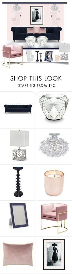 """A Feminine Touch'"" by dianefantasy ❤ liked on Polyvore featuring interior, interiors, interior design, hogar, home decor, interior decorating, Joybird Furniture, Clayton, Kartell y Jonathan Adler"