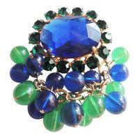 Magnificent Blue & Green Alice Caviness by CollectionsbyAnn