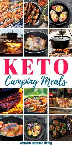 You don't have to give up on your keto diet just because you are going camping. In fact, camping is one of the easiest forms of travel to maintain a healthy lifestyle because you are in charge of the meal planning and prepping. Camping Food Make Ahead, Camping Menu, Camping Breakfast, Camping Recipes, Healthy Camping Foods, Make Ahead Camping Meals, Camping Meal Planning, Camping Ideas, Keto Recipes