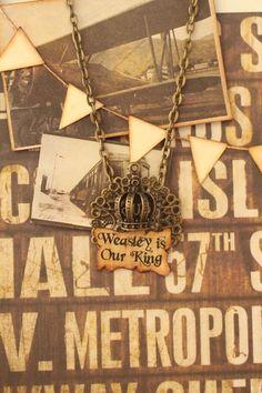 Weasley is our King, Necklace (Harry Potter) de Explorium sur DaWanda.com