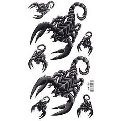 King Horse Big and Small Scorpion Temporary Tattoo. Temporary Tattoo Sticker. Tattoo Will Last About 4-6 Days. Safe for the Skin,Waterproof and Environmentally Friendly in Eu and Us Quality Standard. Easy to Wear and Easy to Remove. Perfect for the Beach, the Pool, Parties, Festivals, Concerts.